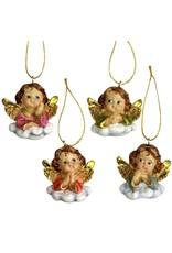 4 hübsche Engelchen auf Wolken