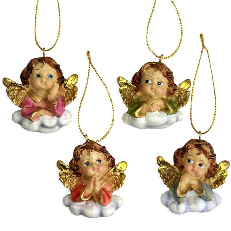 4 hübsche Engelchen auf Wolken-2