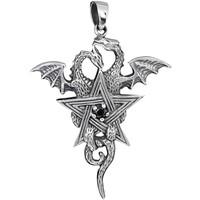 thumb-Pentagramm mit Drachen Anhänger-3