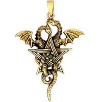 thumb-Pentagramm mit Drachen Anhänger-1