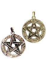 Pentagramme Pentagramm Anhänger, 925 Sterling Silber oder aus Bronze