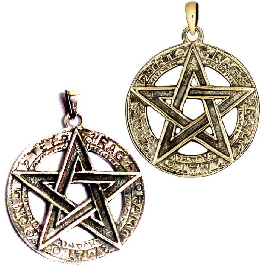 Pentagramm Anhänger, 925 Sterling Silber oder aus Bronze-2