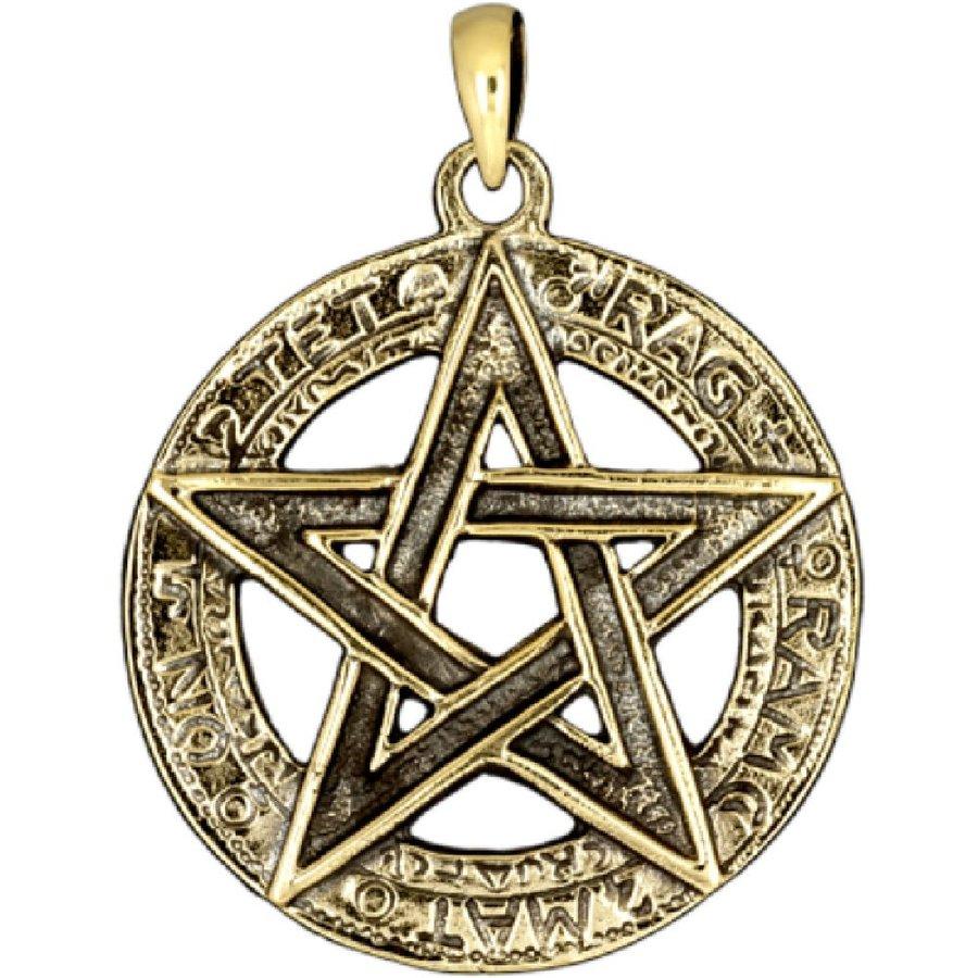 Pentagramm Anhänger, 925 Sterling Silber oder aus Bronze-5