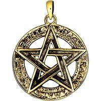 thumb-Pentagramm Anhänger, 925 Sterling Silber oder aus Bronze-1