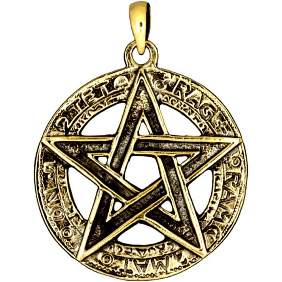 Pentagramm Anhänger, 925 Sterling Silber oder aus Bronze-1