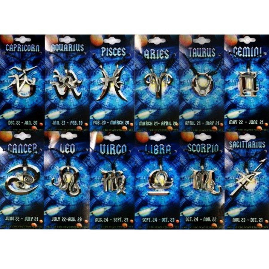 Tierkreiszeichen Anhänger aus Zinn-1