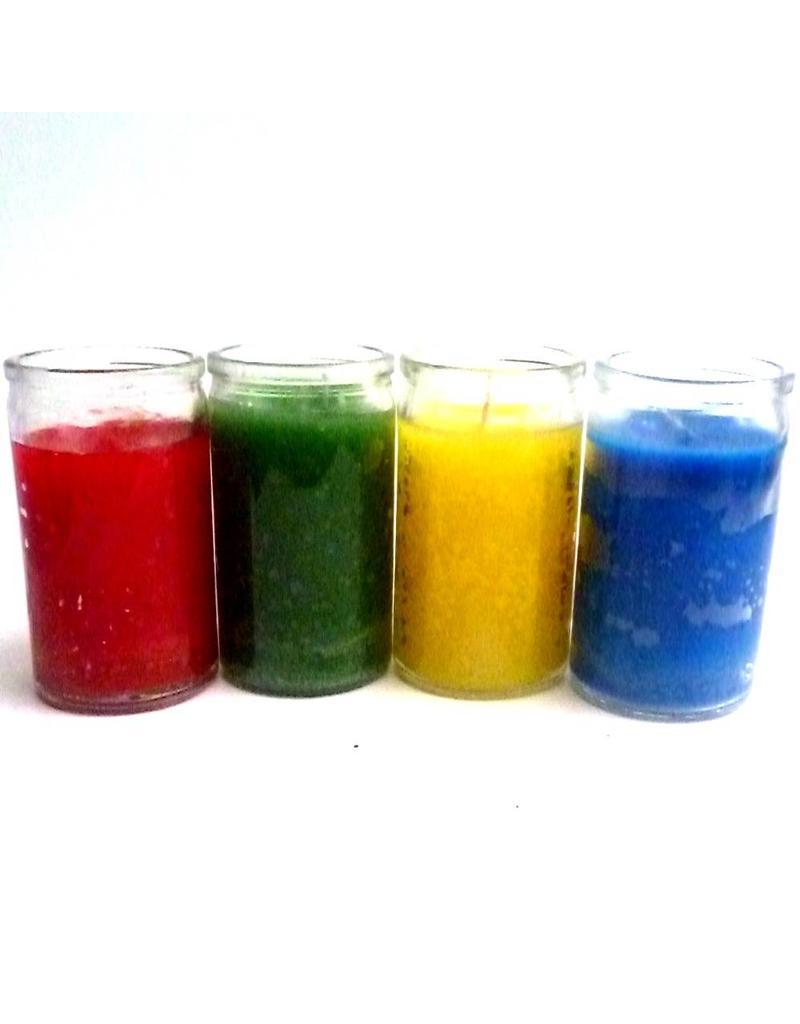 Glaskerzen Elemente, Luft, Feuer, Wasser und Erde