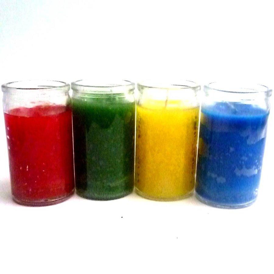 Glaskerzen Elemente, Luft, Feuer, Wasser und Erde-3