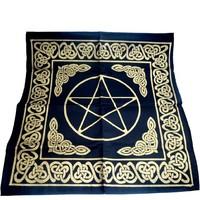thumb-Altartuch Pentagramm, groß mit Celtic Rahmen und Pentakel-1