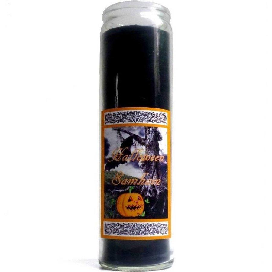 Halloween Samhain Jahreskreis Kerze im Glas-1