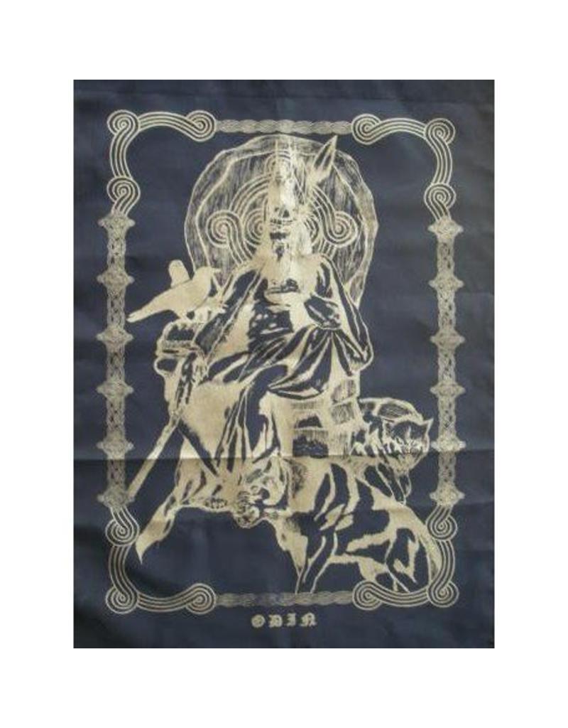 Tuch Odin mit Wolf und Rabe