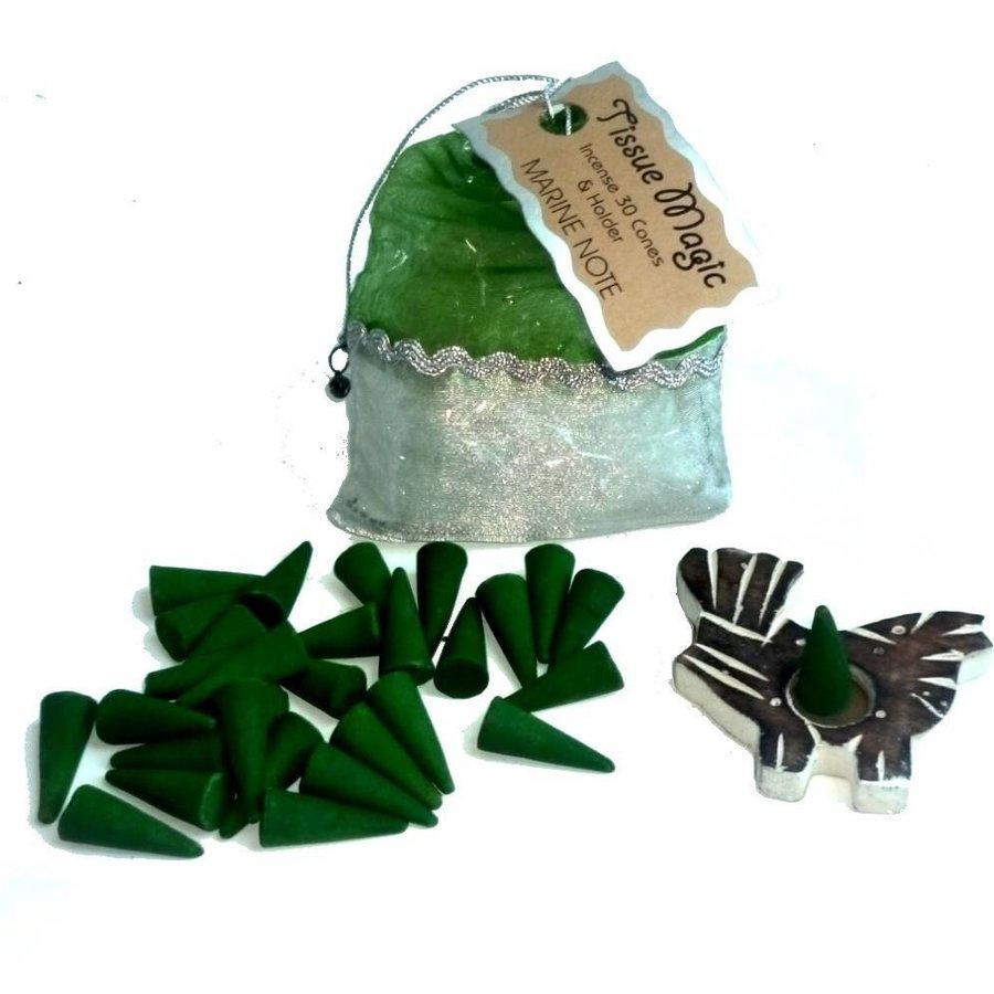 Tissue Magic Räucherkegel mit Halter im Beutel-5