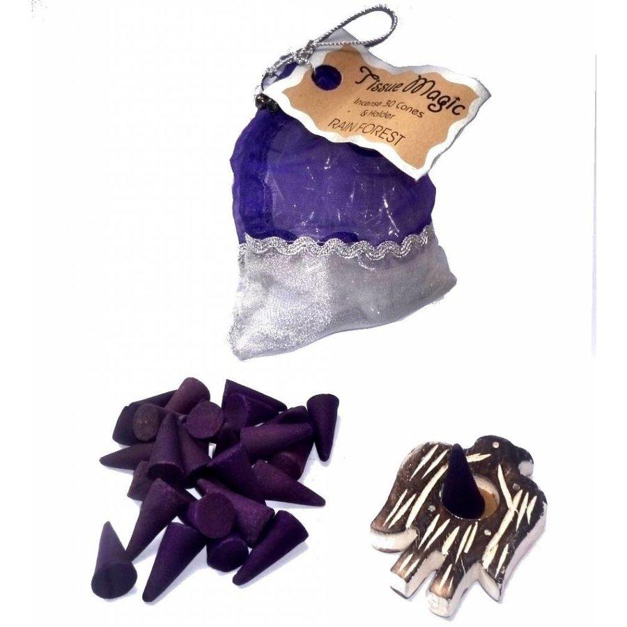 Tissue Magic Räucherkegel mit Halter im Beutel-6