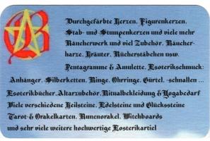 Ritualbedarf, Esoterikshop, Hexenladen, Witchshop