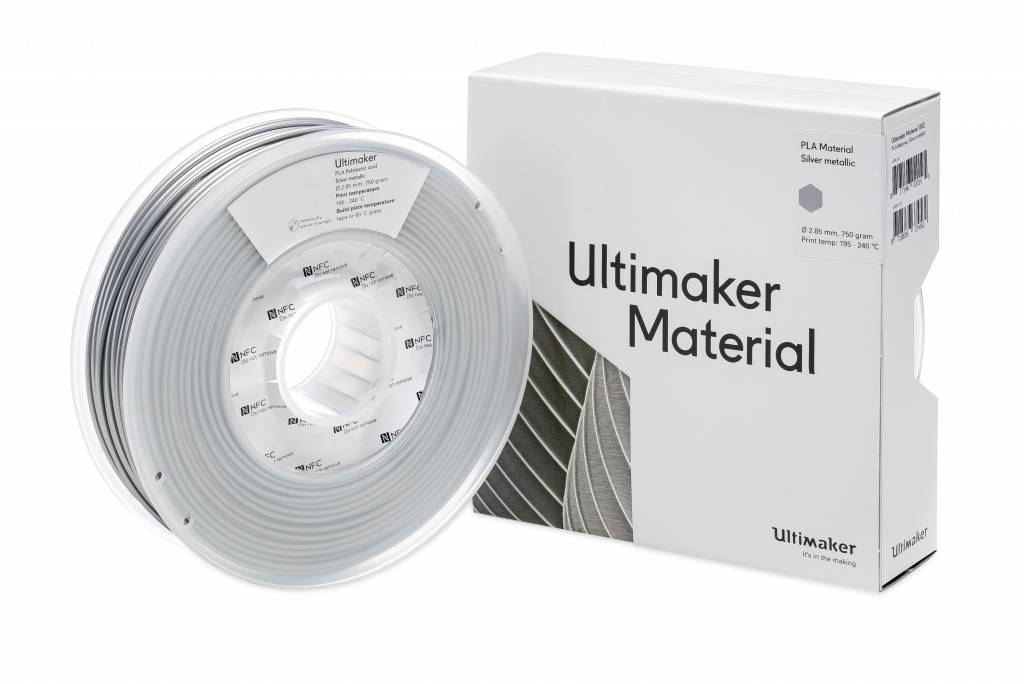 Ultimaker Filament PLA-M0751 Silver Metallic