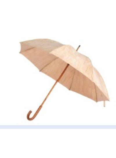 Huismerk Beige/blank kurk paraplu FHH-T 001