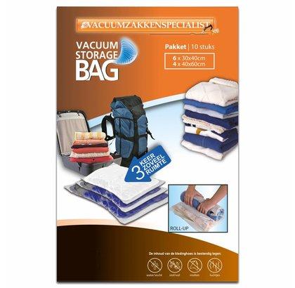 Pro Pakket Roll-Up Vacuumzakken   Set 10 Zakken