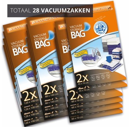 Pro XL Pakket Vacuumzakken Home [Set 28 Zakken]