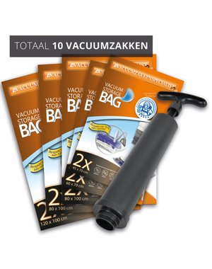 Pro Pakket Vacuumzakken Home [Set 10 Zakken+Pomp]