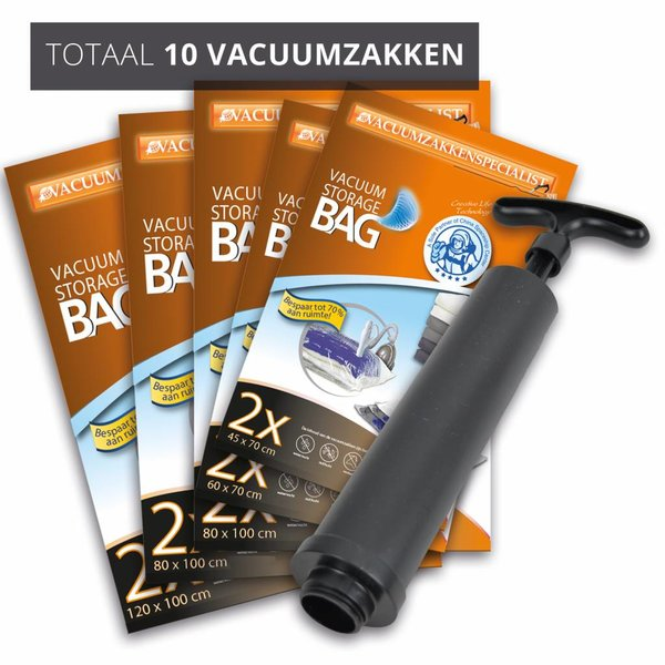 Pro Pakket Vacuumzakken Home [Set 10 Vacuumzakken + Pomp]