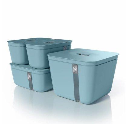 Vacuvita Vacuum Container Set Blauw [4 stuks]