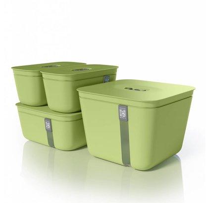 Vacuvita Vacuum Container Set Groen [4 stuks]