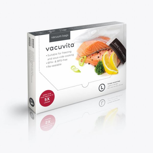 Vacuvita Voedsel Vacuumzakken 35x25cm Large [15 stuks]