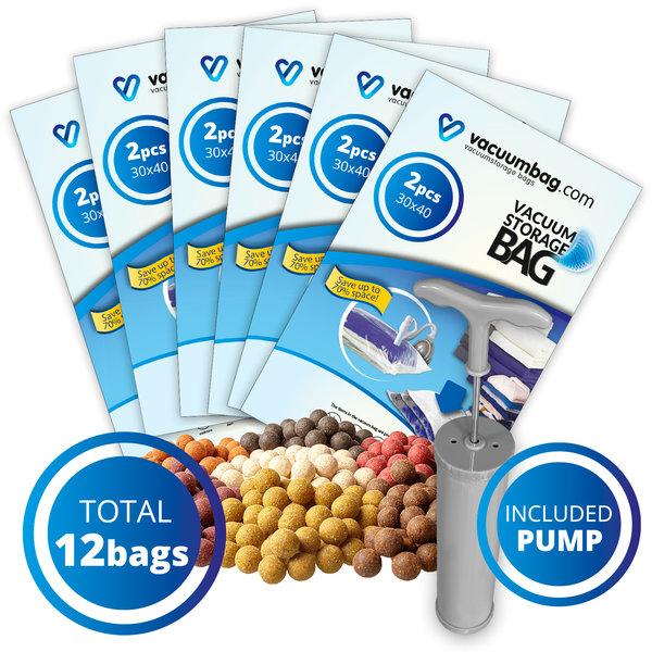 Vacuumbag.com Vacuumzakken voor Karper Boilies Pakket [Set 12 Zakken + Pomp]