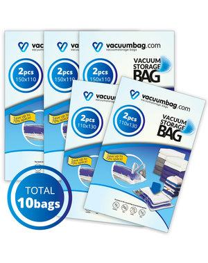 Vacuumbag.com Vacuumzakken voor Tuinkussens Pakket [Set 10 zakken]