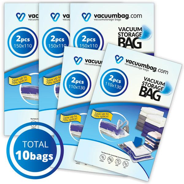 Vacuumbag.com Tuinkussen Vacuumzakken Pakket [Set 10 Zakken]