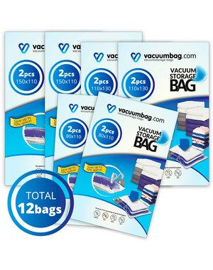 Vacuumbag.com Vacuumzakken Pakket Home Large Bags [Set 12 zakken]