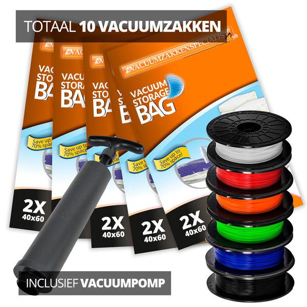 Pro Pakket Vacuumzakken voor Filament [Set 10 Zakken + Pomp] - Copy