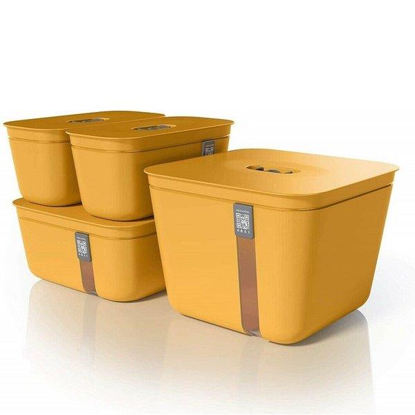 Vacuvita Vacuum Container Set Oranje [4 stuks]