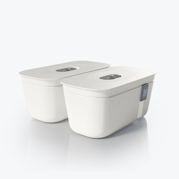 Vacuvita Vacuum Container Small Wit [set 2 stuks]