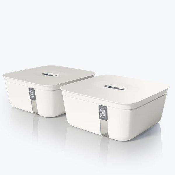 Vacuvita Vacuum Container Medium Wit [set 2 stuks]