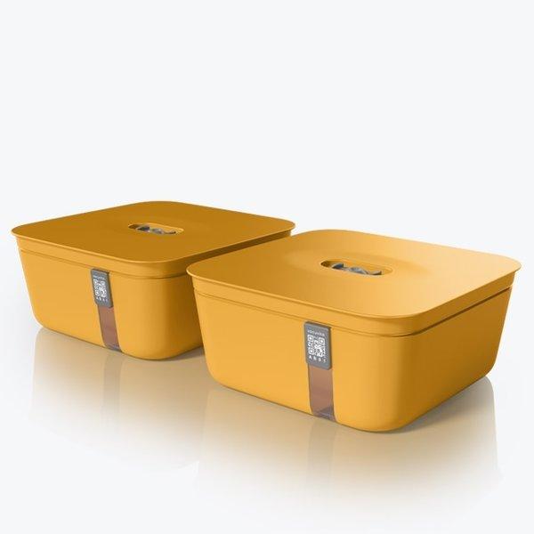 Vacuvita Vacuum Container Medium Oranje [set 2 stuks]