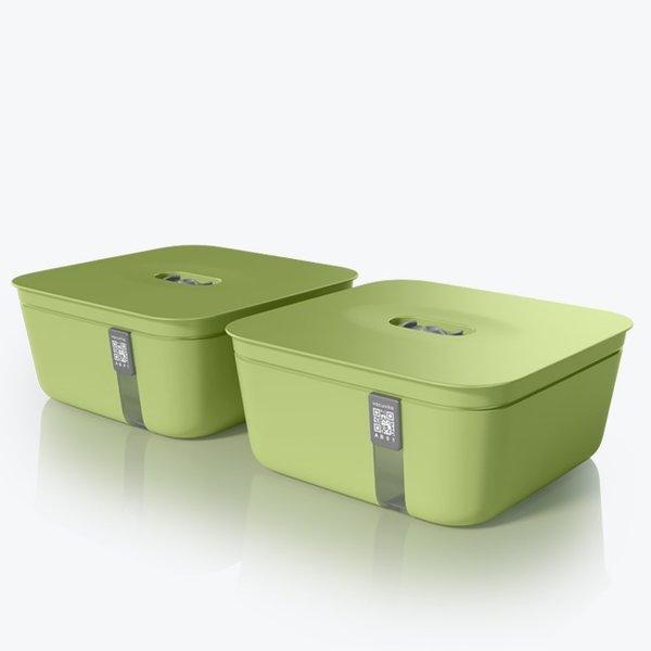 Vacuvita Vacuum Container Medium Groen [set 2 stuks]