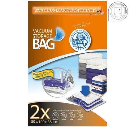 Pro Vacuumzakken 80X100X38 cm | Set 2 Zakken (Geschikt Voor Vacuumpomp)