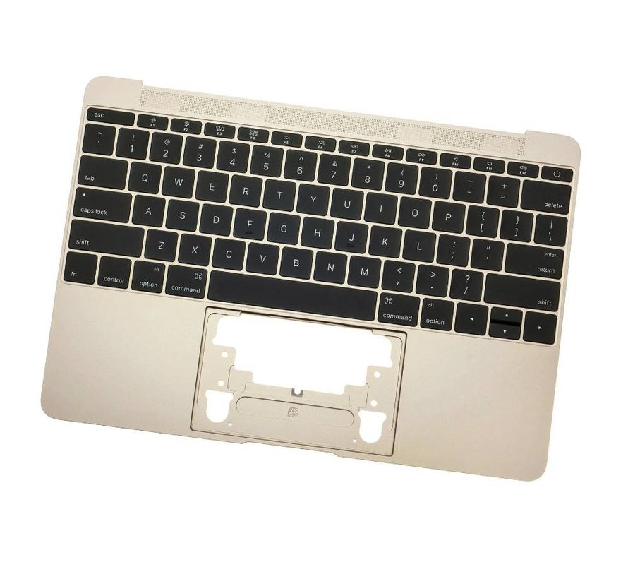 MacBook 12 inch A1534 topcase (2015) - UK/NL - gold - goud