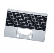 MacBook 12 inch A1534 topcase (2016) - UK/NL - silver - zilver