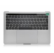 MacBook Pro 13 inch A1706 topcase - UK/NL - silver / zilver