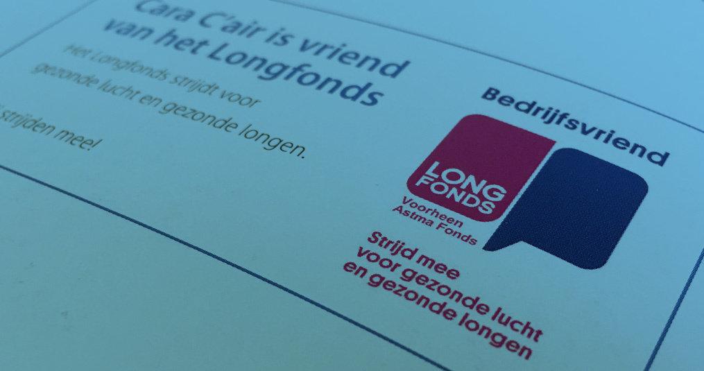 Wij zijn bedrijfsvriend van het Longfonds