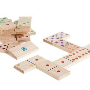 Buitenspeel Domino groot met gekleurde stippen