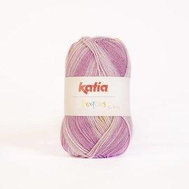 Katia Peques Plus 51 Roos/Paars/Bruin