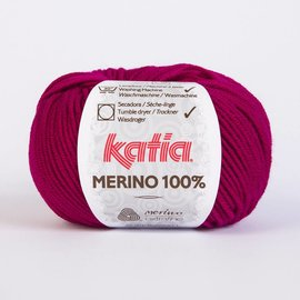 Katia Merino 100%  49 Bordeauxrood