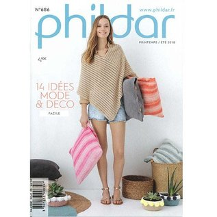 Phildar 686 Mini Haakboek  Mode en Deco Lente - Zomer 2018