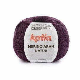 Katia Merino Aran Natur 204 Fuchsia-Zwart