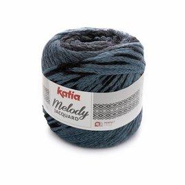 Katia Melody Jacquard 256  Blauw/Zwart