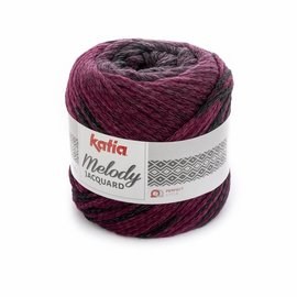Katia Melody Jacquard 257 Grijs/Violet/Zwart