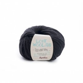Katia Love Wool 100 Zwart 207